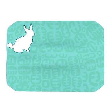 KESS InHouse Oliver Placemat; Teal
