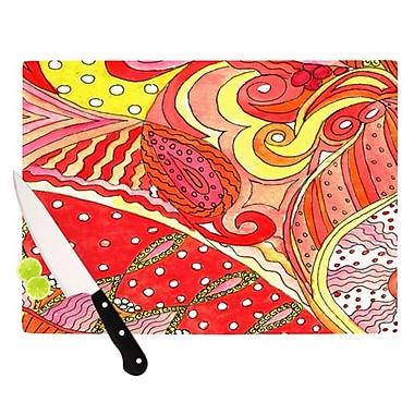KESS InHouse Swirls Cutting Board; 11.5'' H x 15.75'' W