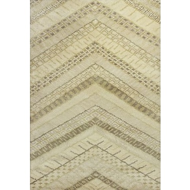 KAS Rugs Amore Cream Chevron Area Rug; 5' x 7'6''