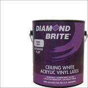 Diamond Brite 1 Gal. Flat Ceiling White Interior Latex Acrylic Vinyl Paint