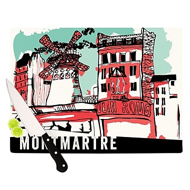 KESS InHouse Montmartre Cutting Board; 11.5'' H x 8.25'' W