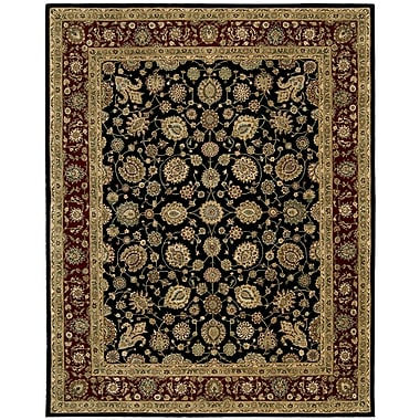 Nourison 2000 Red/Black Area Rug; 7'9'' x 9'9''