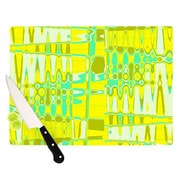 KESS InHouse Changing Gears in Sunshine Cutting Board; 11.5'' H x 15.75'' W