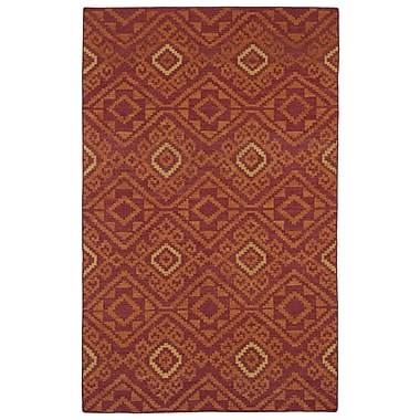 Kaleen Nomad Red Geometric Area Rug; 9' x 12'