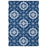 Kaleen Matira Hand-Tufted Blue Indoor/Outdoor Rug; 5' x 7'6''