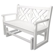 POLYWOOD  Chippendale Glider; White
