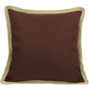 Xia Home Fashions Classic Jute Trimmed Solid Throw Pillow; Chocolate