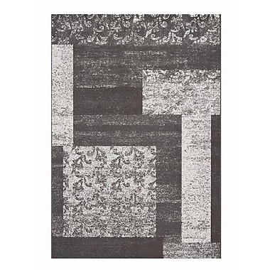 Dynamic Rugs Mysterio Silver Block Area Rug; 6'7'' x 9'6''