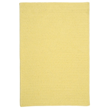 Colonial Mills Courtyard Yellow Rug; 7' x 9'
