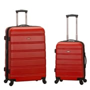 Rockland Melbourne 2 Piece Expandable Luggage Set; Red