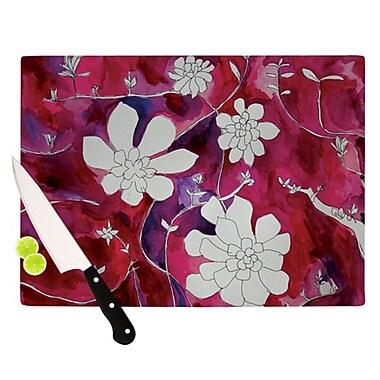 KESS InHouse Succulent Dance II Cutting Board; 11.5'' H x 15.75'' W