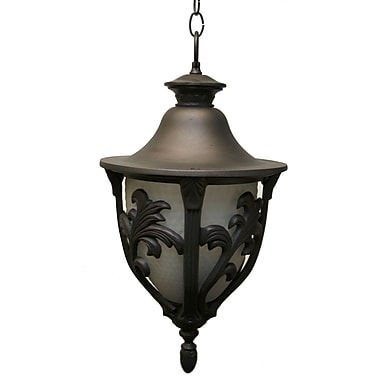 Melissa Tuscany 4 Light Outdoor Hanging Lantern; Old Copper