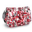 J World Terry Campus Messenger Bag; Red