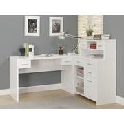 Monarch Specialties Inc. Corner Desk with Hutch; Warm White