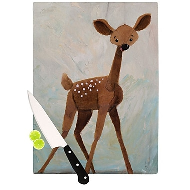 KESS InHouse Oh Deer Cutting Board; 11.5'' H x 15.75'' W