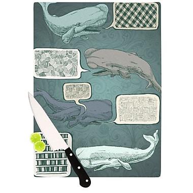 KESS InHouse Whale Talk Cutting Board; 11.5'' H x 15.75'' W