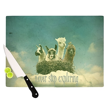 KESS InHouse Never Stop Exploring Cutting Board; 11.5'' H x 15.75'' W