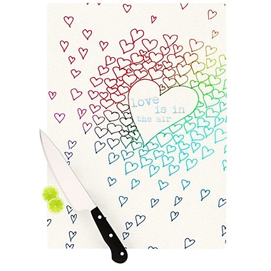KESS InHouse Rainbow Hearts Cutting Board; 11.5'' H x 15.75'' W