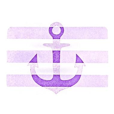 KESS InHouse Stone Vintage Anchor Placemat; Purple