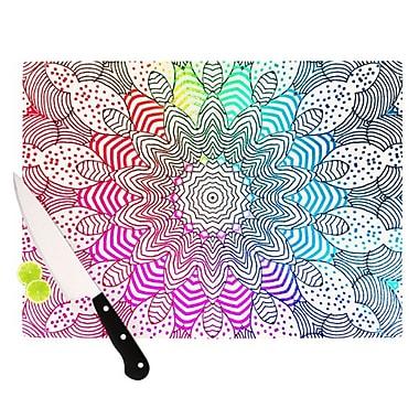 KESS InHouse Rainbow Dots Cutting Board; 11.5'' H x 15.75'' W