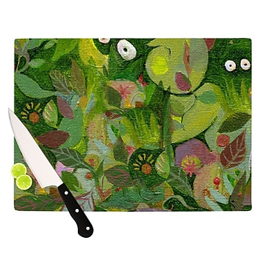 KESS InHouse Jungle Cutting Board; 11.5'' H x 8.25'' W