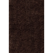 Momeni Luster Shag Hand-Tufted Brown Area Rug; Round 4'