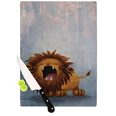 KESS InHouse Dandy Lion Cutting Board; 11.5'' H x 15.75'' W
