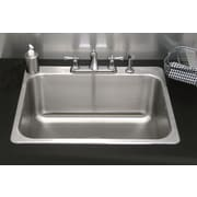 A Line by Advance Tabco 30.25 inch x 24.25 inch Single Drop In Utility Sink w/ Faucet by