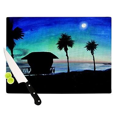 KESS InHouse Carlsbad State Beach Cutting Board; 11.5'' H x 15.75'' W