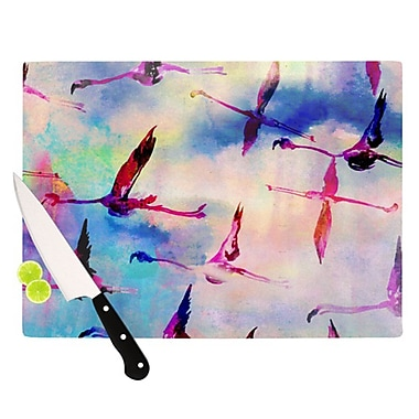 KESS InHouse Flamingo in Flight Cutting Board; 11.5'' H x 15.75'' W