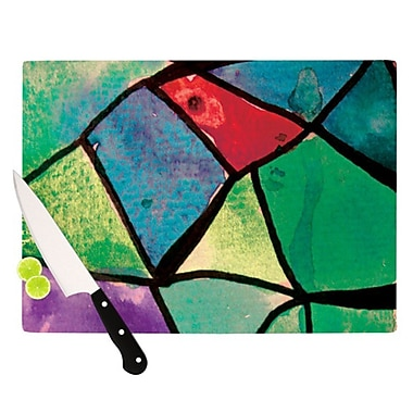 KESS InHouse Stain Glass 1 Cutting Board; 11.5'' H x 8.25'' W
