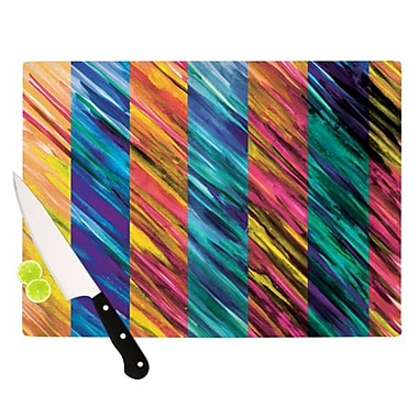KESS InHouse Set Stripes I Cutting Board; 11.5'' H x 15.75'' W