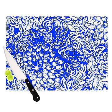KESS InHouse Bloom Blue for You Cutting Board; 11.5'' H x 8.25'' W