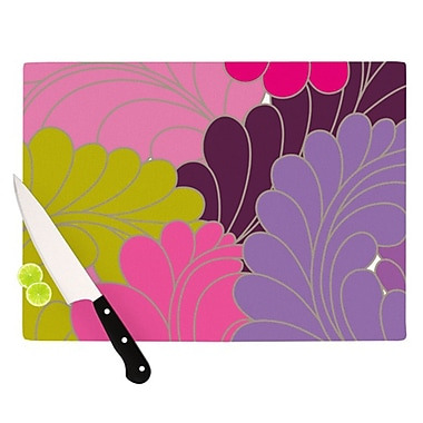 KESS InHouse Moroccan Leaves Cutting Board; 11.5'' H x 8.25'' W