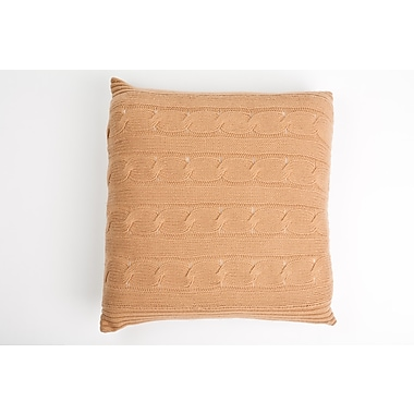 Cashmere Collection Cashmere Throw Pillow; Camel
