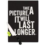 KESS InHouse Take a Picture Cutting Board; 11.5'' H x 8.25'' W