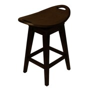 Carolina Accents Thoroughbred 26.13'' Swivel Bar Stool; Espresso