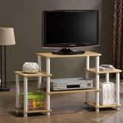 Furinno Turn 'n' Tube Entertainment Center; Beech and White