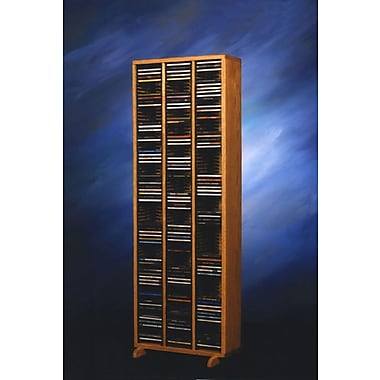 Wood Shed 300 Series 240 CD Multimedia Storage Rack; Clear