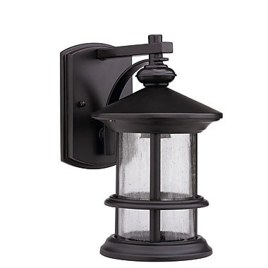 Chloe Lighting Ashley Superiora 1-Light Outdoor Wall Lantern; Oil Rubbed Bronze