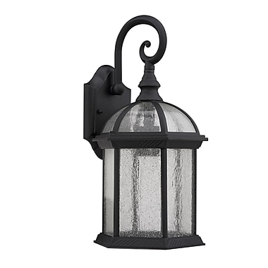 Chloe Lighting Havana Divine 1 Light Outdoor Wall Lantern; Black