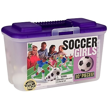 Kaskey Kids Soccer Board Game with Girls (Set of 30)