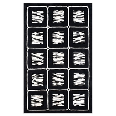 American Home Rug Co. African Safari Off White/Black Animal Magnetism Area Rug; 5' x 8'