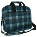 J World Executive Laptop Briefcase; Check Navy
