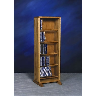 Wood Shed 500 Series 130 CD Dowel Multimedia Storage Rack; Clear