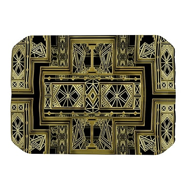 KESS InHouse Golden Art Deco Placemat; Gold and Black