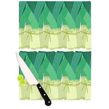 KESS InHouse Leeks Cutting Board; 11.5'' H x 15.75'' W