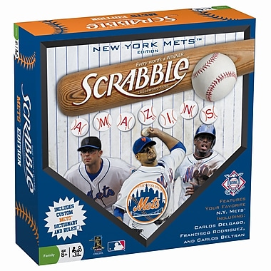 Fundex Games MLB Scrabble Board Game; New York Mets