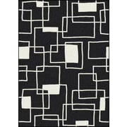 Milliken Offbeat  Box Black/White Area Rug; 5'4'' x 7'8''