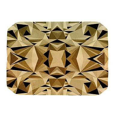 KESS InHouse Abstraction Placemat; Gold and Black
